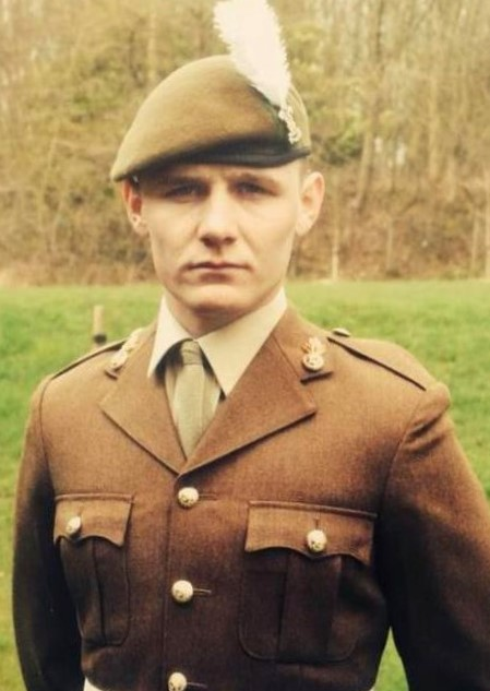 Leon on uniform during