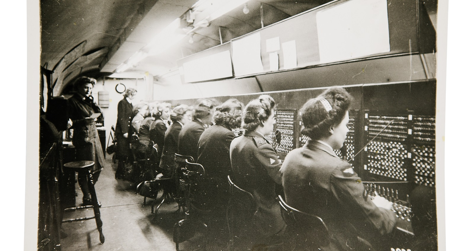 The main switchboard underground in the tunnels at Fort Southwick