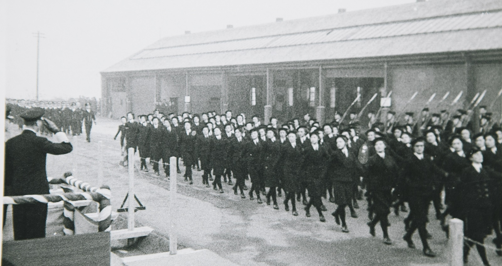 Wrens marching past King George VI