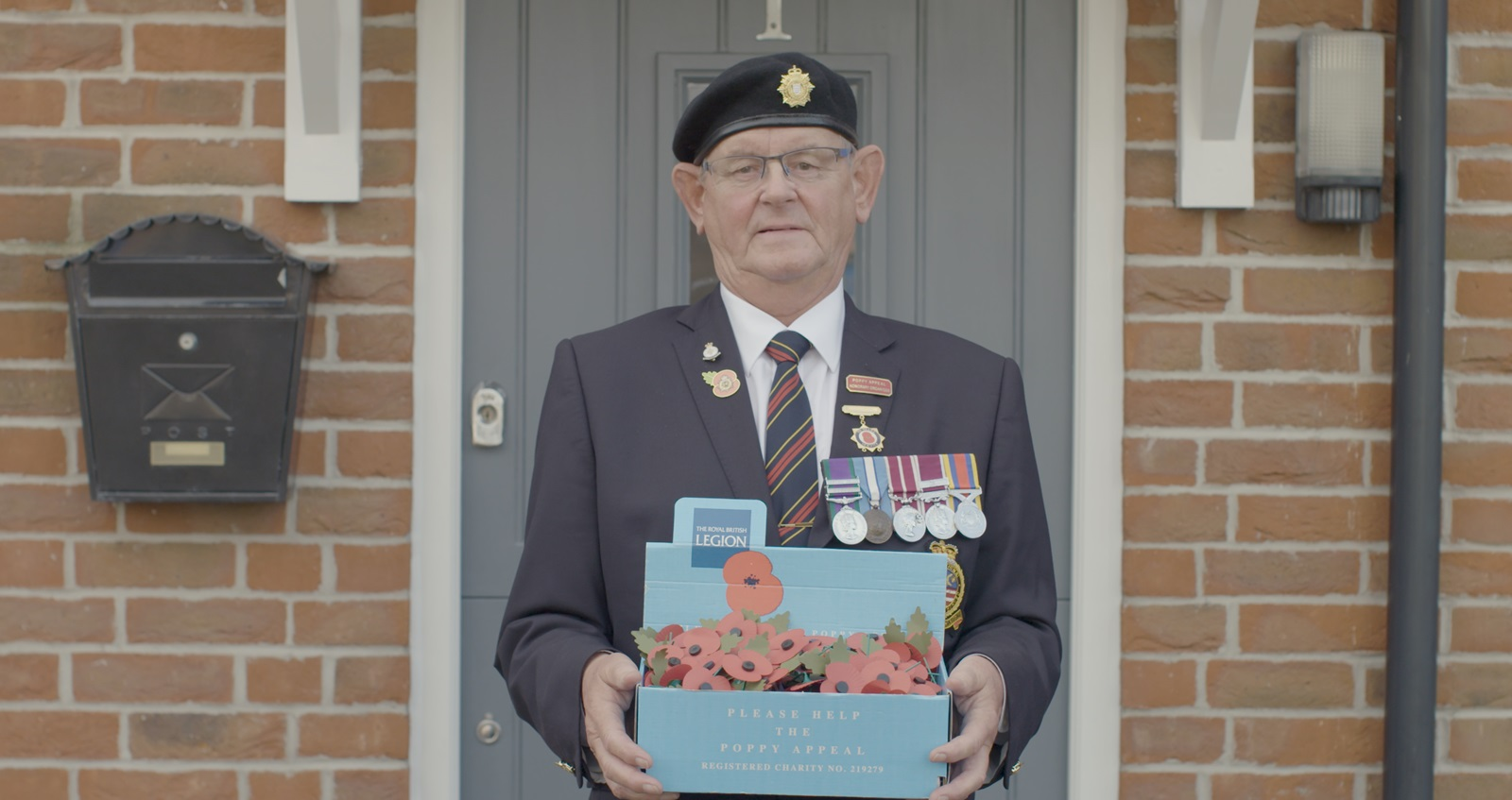Mark Cockram collecting for the Poppy Appeal