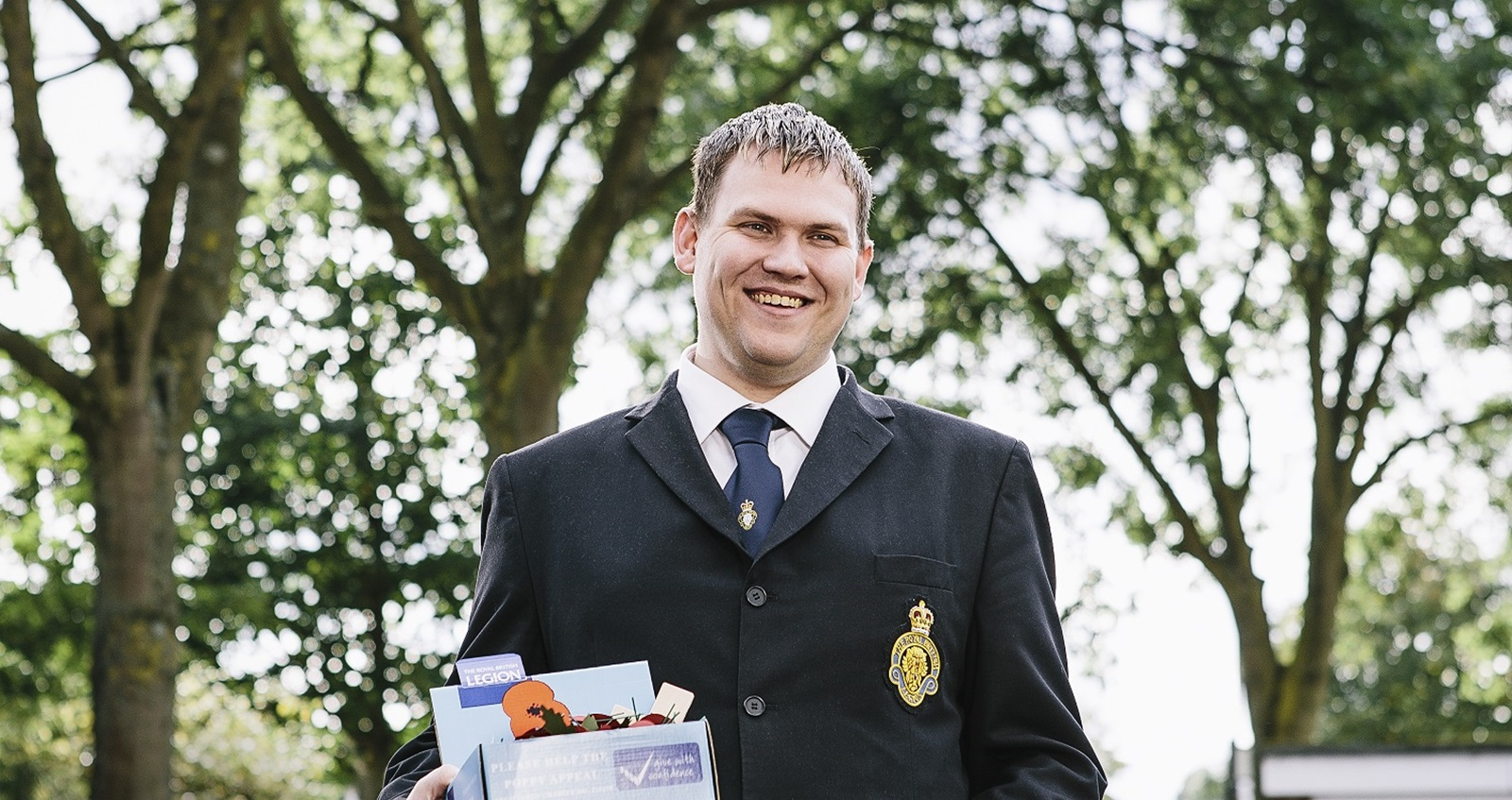Poppy Appeal collector Steven Gillingwater