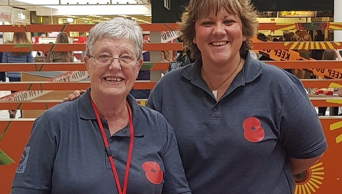 Poppy Appeal volunteer Sian Cameron
