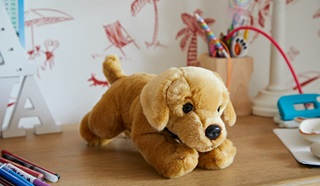Rigby cuddly toy
