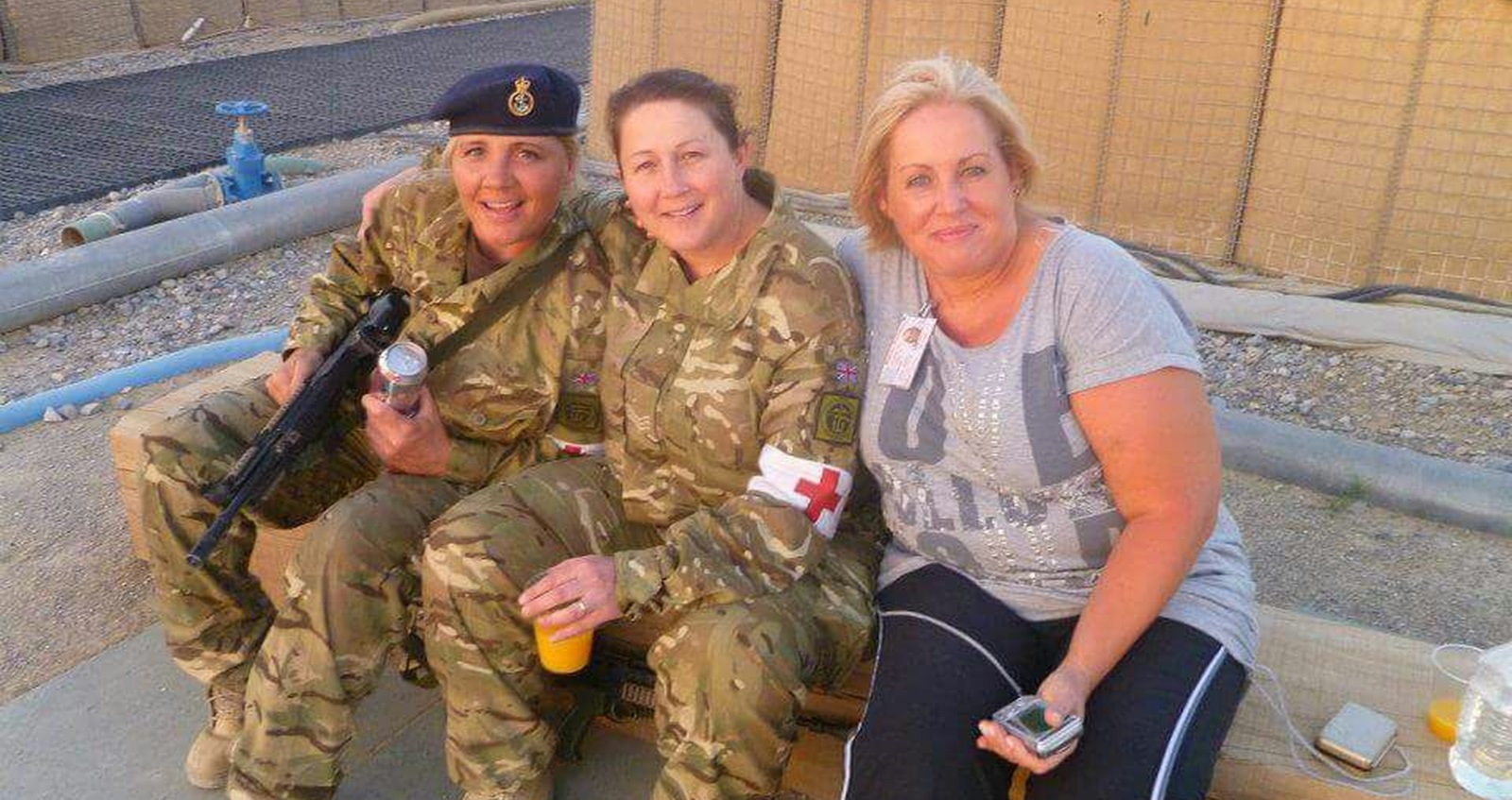 Stacey on tour in Afghanistan
