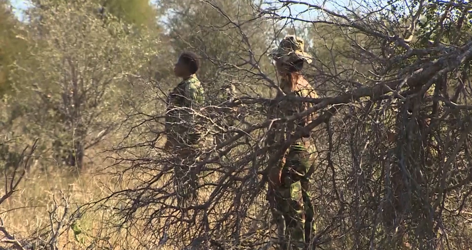 Army and rangers working on counter-poaching operations in Malawi