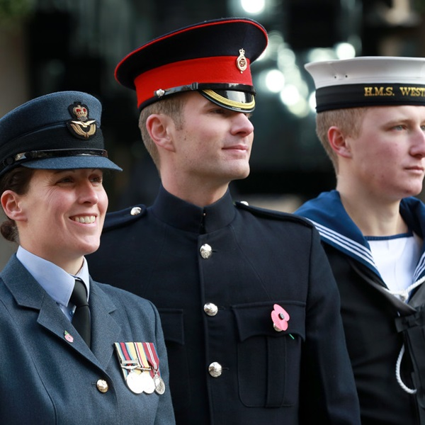 Three service personnel