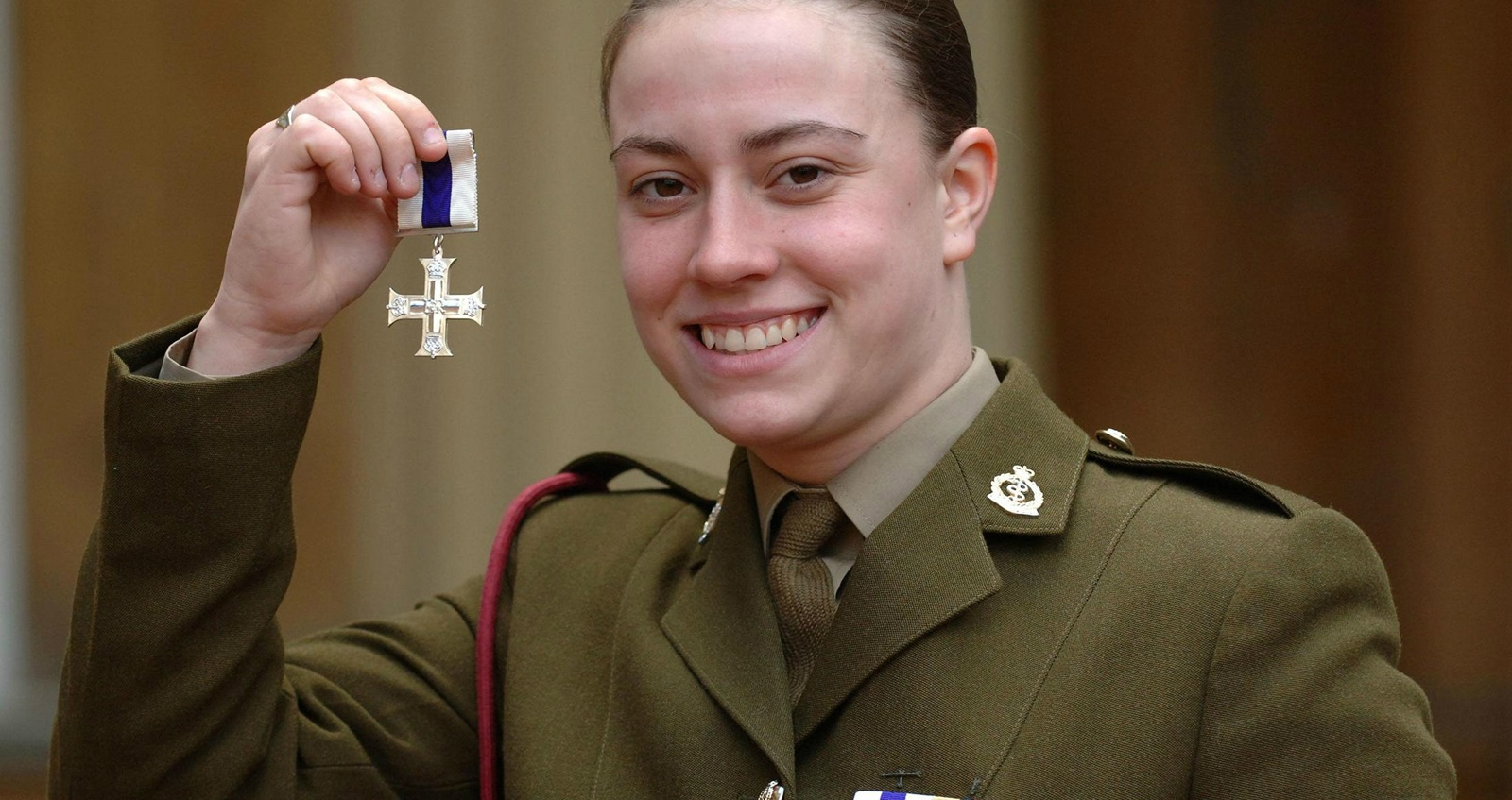Michelle Norris was the first woman to receive the Military Cross