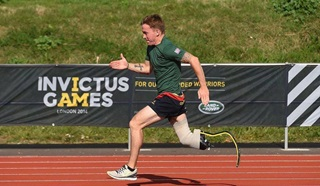 Veteran Andy competing in the Invictus Games trials