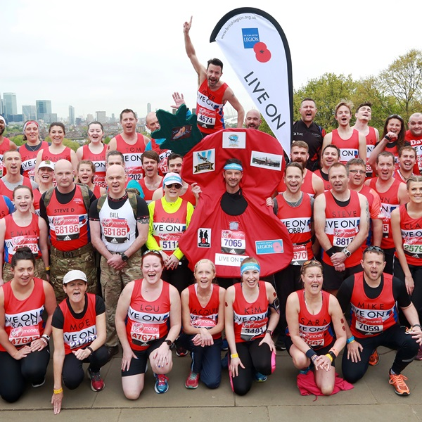 Group photo of London Marathon runners