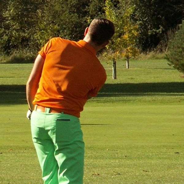 Golfer taking part in Poppy Golf