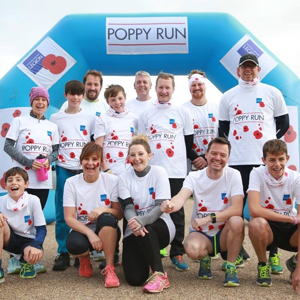 Birmingham Poppy Run team photo