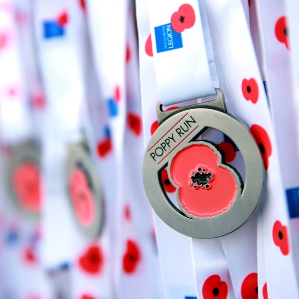 Poppy Run medals