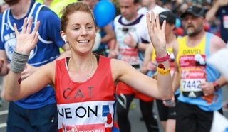 Runner taking part in the London Marathon for the Legion