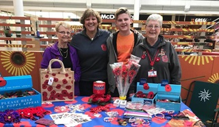 Sian Cameron and other Poppy Appeal volunteers