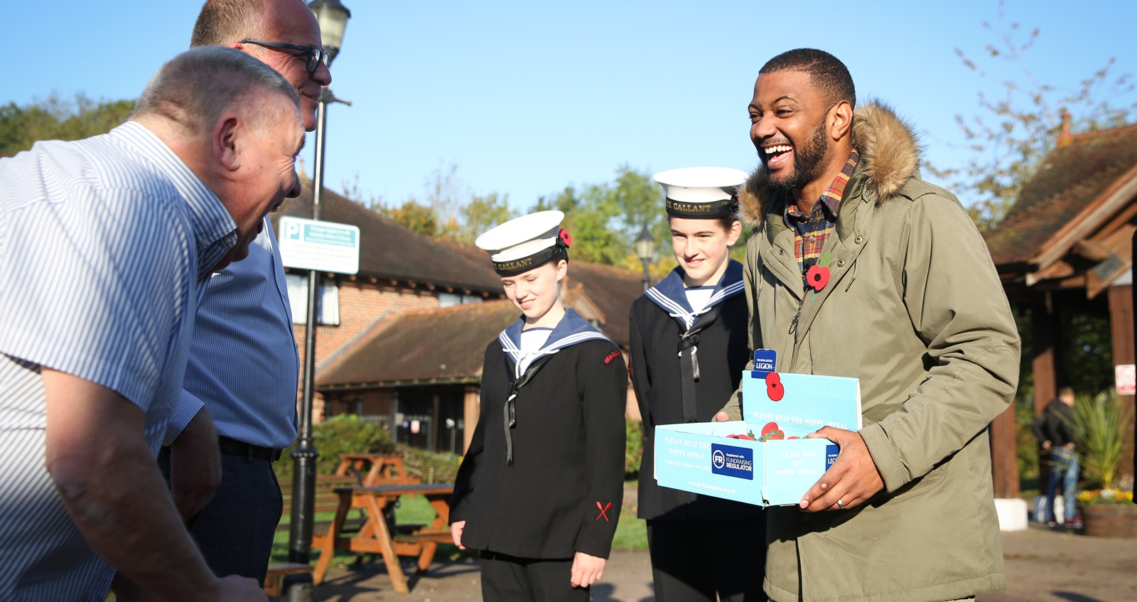 JB Gill undercover as a poppy collector
